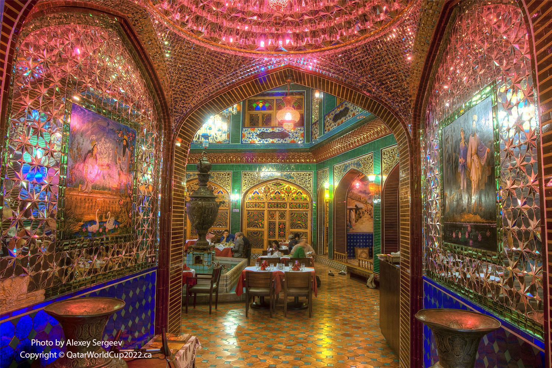 Asfahan garden restaurant in souq waqif