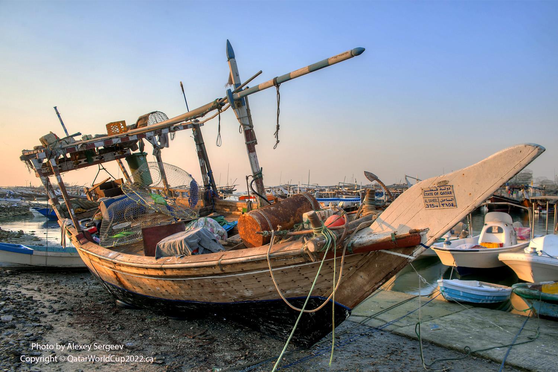 dhow sailing ship at wakra port