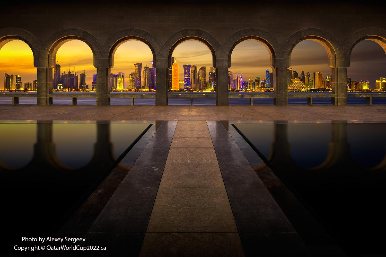 The backyard of the museum of Islamic art